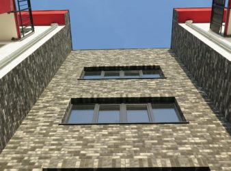 fasado plytelės, spalva Mix Dalmantin 1