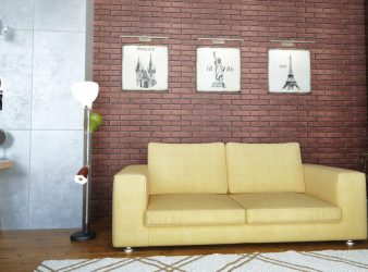 izoflex fasado plytelės, Sena plyta spalva 107 1